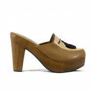 Bette Clogs Camel