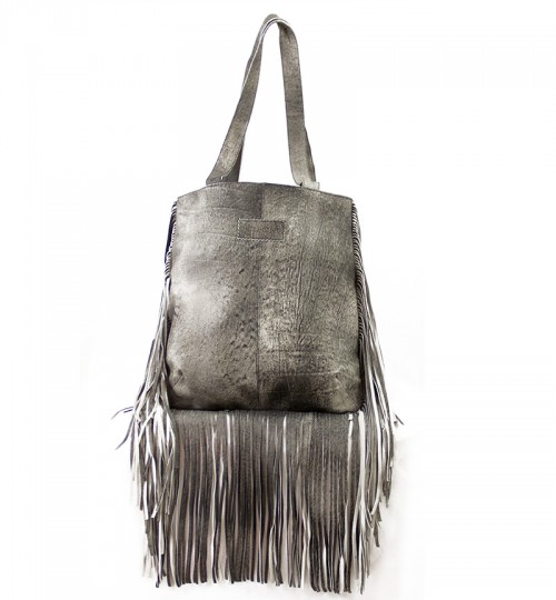 Jill Fringe Washed Black