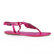 Leaves Snake Sandal Pink