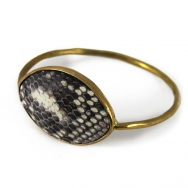 Python Oval Bangle Natural
