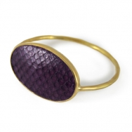 Python Oval Bangle Metal Violet