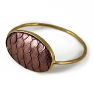Python Oval Bangle Metal Purple