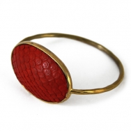 Python oval bangle red