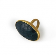 Python Oval Ring Night Blue