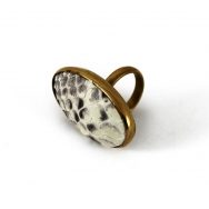 Python Oval Ring Natural