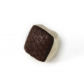 Python Square Silver Ring chocolate