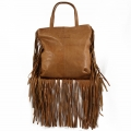 Jill Fringe Tan Brown