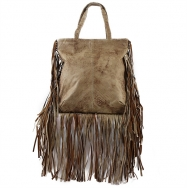 Jill Fringe Washed Brown