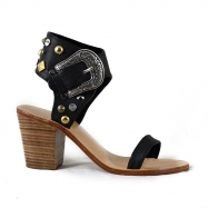Thierry  Heel Studded Black