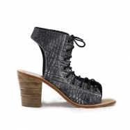 Jeanne Croco Washed Black