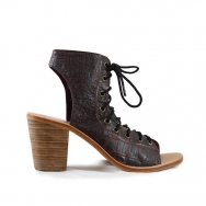 Jeanne Croco Washed Black-Burgundy