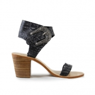 Thierry Heel Reedition  Croco Washed Black