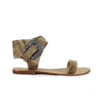 Thierry Sandal Flat Washed Cream