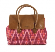 Jill Flap Ikat Light Burgundy