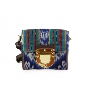 Marlenne Mini Ikat Blue-Brick