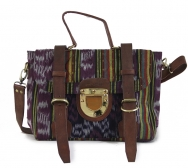 The Mini Ikat Navy-Aubergine