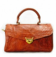 Dr Bag Croco Vintage Brown