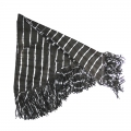 Drifter Scarf Tie-Dye Leather Black