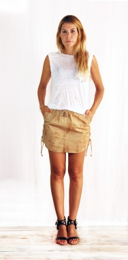 Erin Laced Mini Skirt Washed Brown