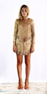 Jagger Dress Washed Brown