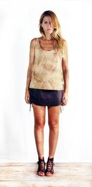 Lois Laced Top Washed Cream