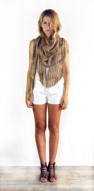 Wanderlust Scarf Washed Cream