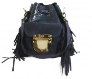 West Village Fringe Snake Mini Navy