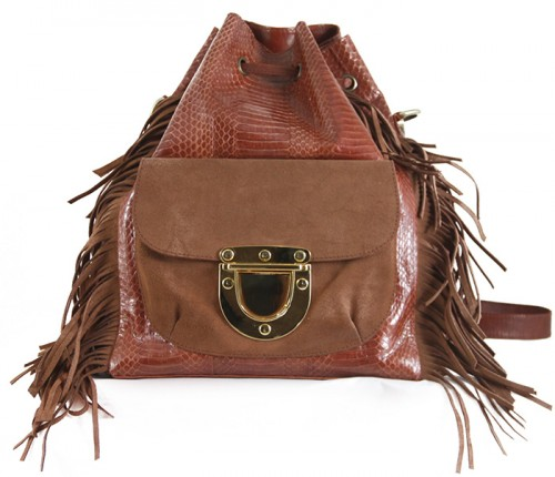 West Village Fringe Snake L Vintage Brown