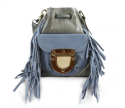 West Village Fringe Snake Mini Jade Grey