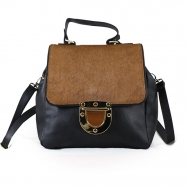 Emma Calf Black-Brown