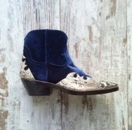 Lois Boot Python Natural Velvet Navy