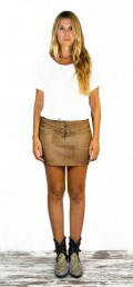 Voodoo Miniskirt Washed Brown