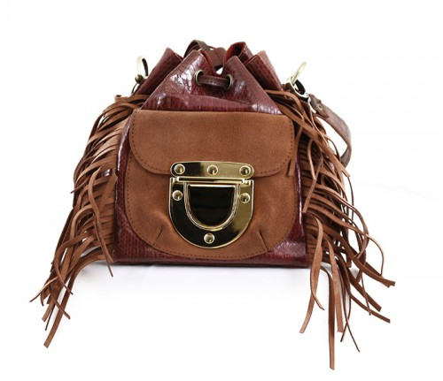 West Village Fringe Snake Mini Vintage Brown