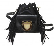 West Village Mini Fringe Calf Black