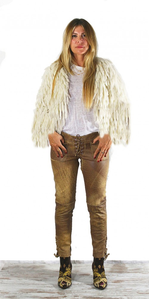Mohair Short Jacket Ivory