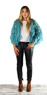 Mohair short Jacket Sea Mist