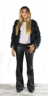 Mohair short Jacket Black