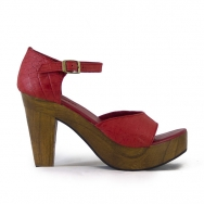 Greta Croco Red