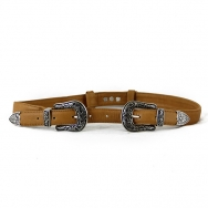 Thierry  Double Belt Camel-Tan