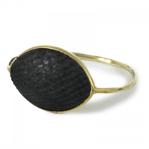 Python Arrow Bangle Black
