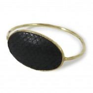 Python Oval Bangle Black