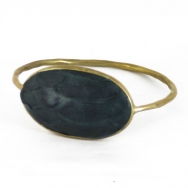 Python Oval Bangle Nigth Blue