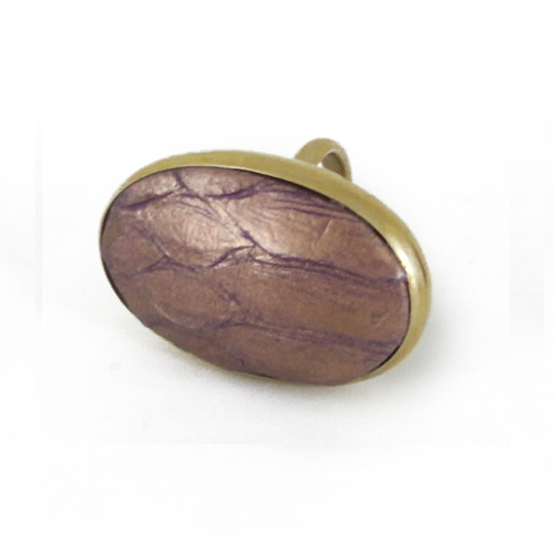 Python Oval Ring Metallic Purple