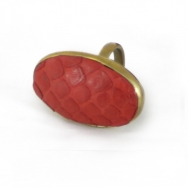 Python Oval Ring Red