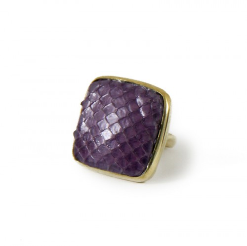 Python Square Ring Purple